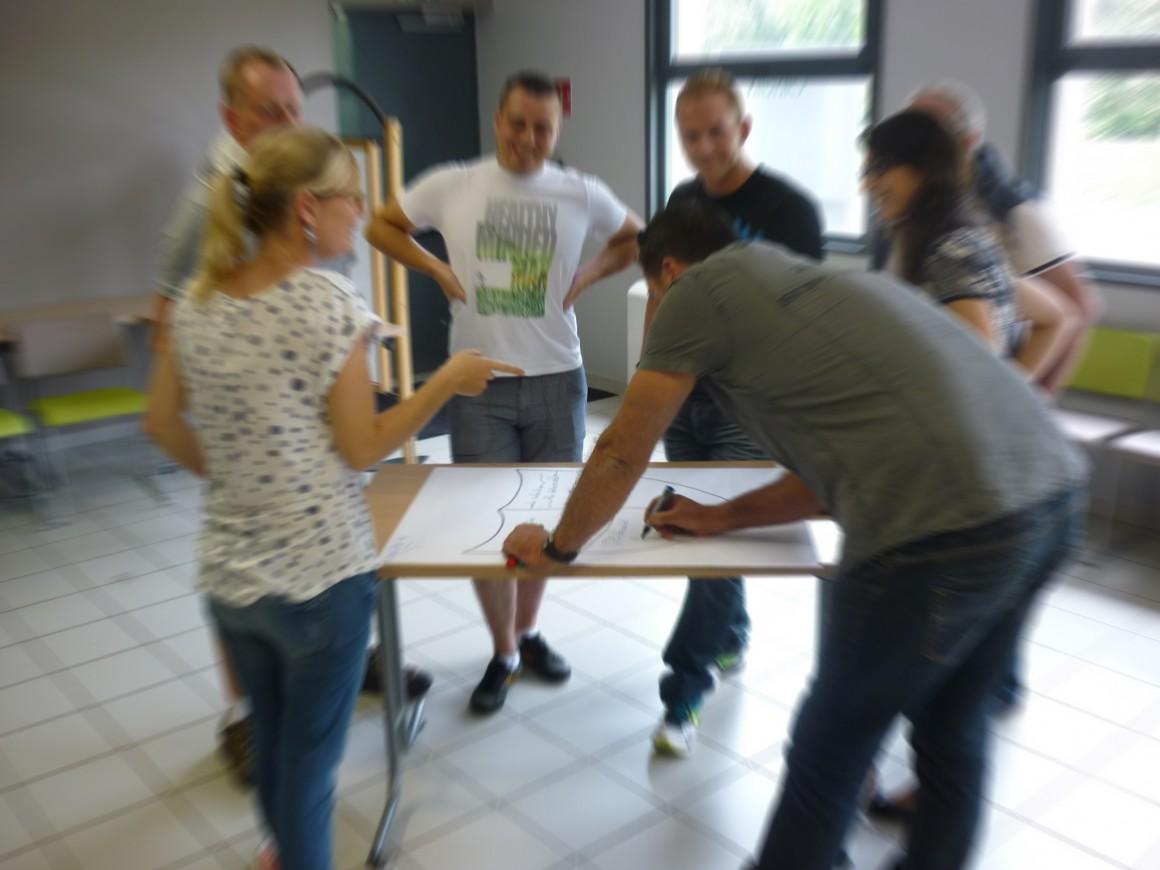 Production collective en salle